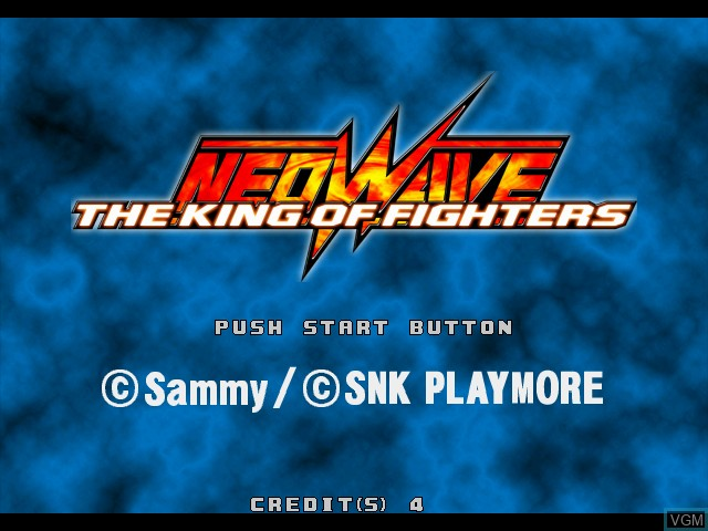 Title screen of the game King of Fighters, The - Neowave on Atomiswave