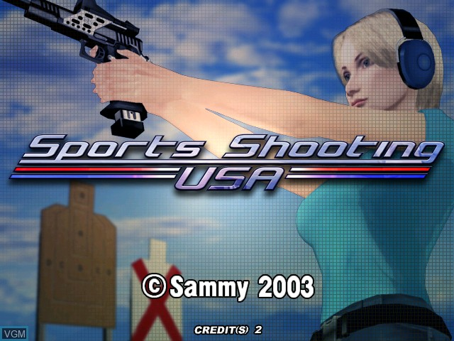 Title screen of the game Sports Shooting USA on Atomiswave