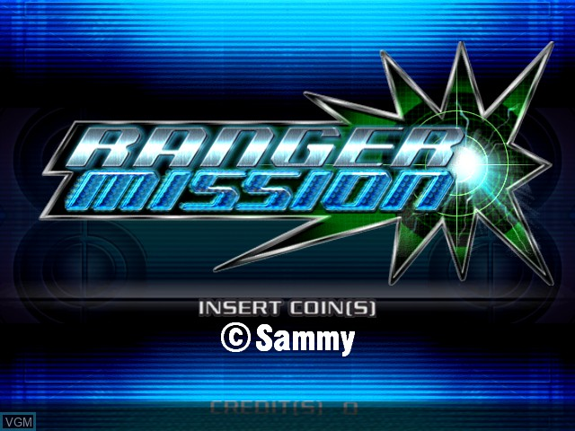 Title screen of the game Ranger Mission on Atomiswave