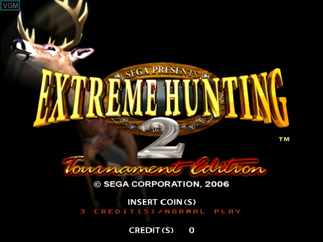 Title screen of the game Extreme Hunting 2 - Tournament Edition on Atomiswave