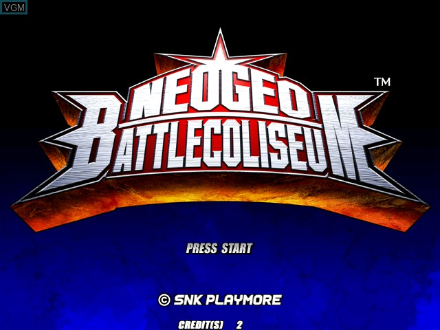 Title screen of the game Neogeo Battle Coliseum on Atomiswave