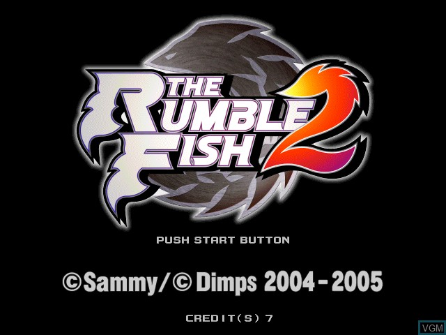 Title screen of the game Rumble Fish 2, The on Atomiswave