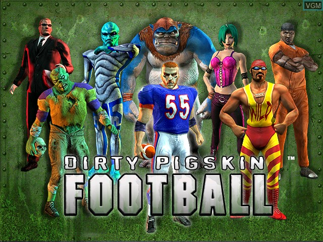 Title screen of the game Dirty Pigskin Football on Atomiswave
