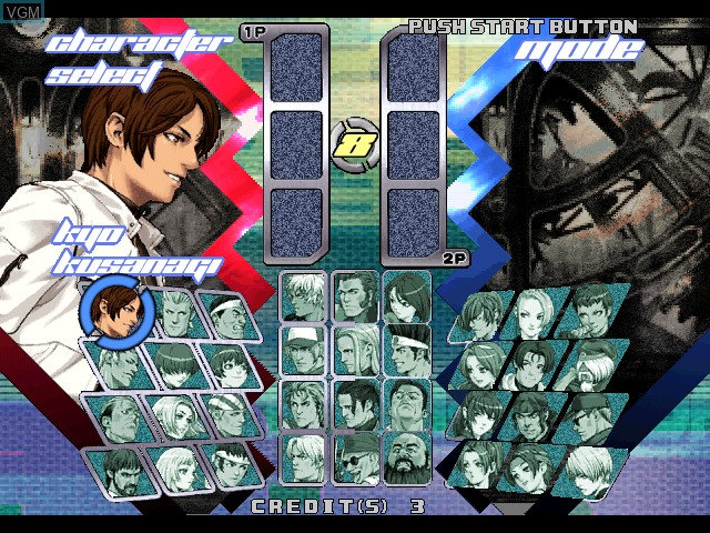 Menu screen of the game King of Fighters, The - Neowave on Atomiswave