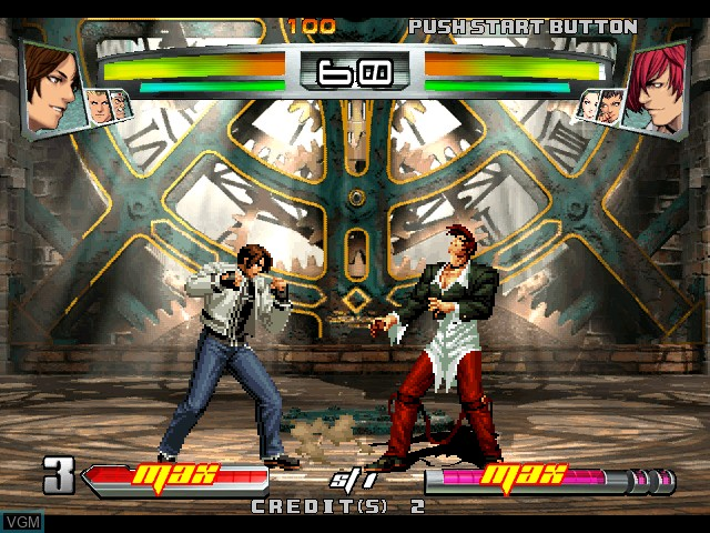 In-game screen of the game King of Fighters, The - Neowave on Atomiswave