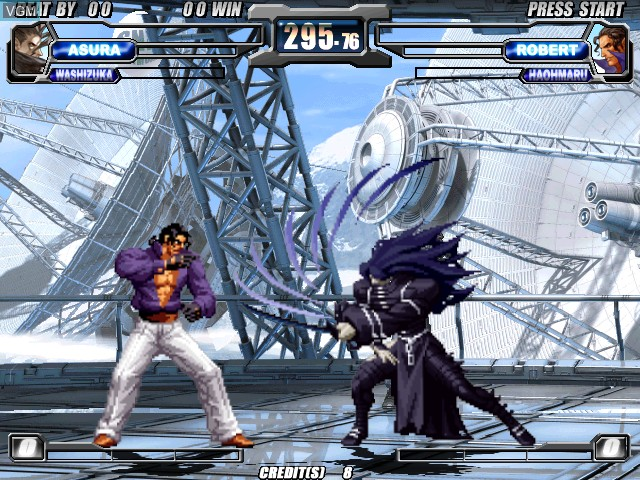 In-game screen of the game Neogeo Battle Coliseum on Atomiswave
