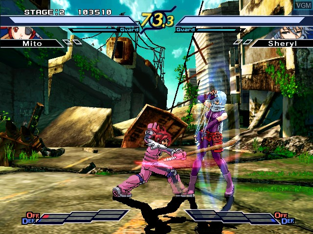 In-game screen of the game Rumble Fish 2, The on Atomiswave