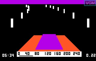 In-game screen of the game 280 Zzzap & Dodgem on Bally Astrocade
