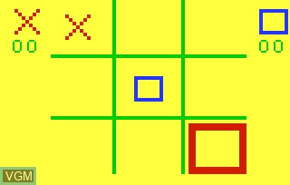 In-game screen of the game Amazing Maze & Tic-Tac-Toe on Bally Astrocade