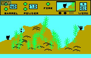 In-game screen of the game Artillery Duel on Bally Astrocade