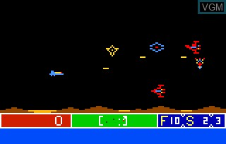 In-game screen of the game Cosmic Raider on Bally Astrocade