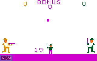 In-game screen of the game Dogpatch on Bally Astrocade