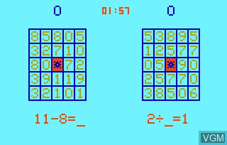 In-game screen of the game Elementary Math & Bingo Math AKA Speed Math & Bingo Math on Bally Astrocade