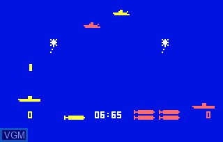 In-game screen of the game Seawolf & Missile on Bally Astrocade