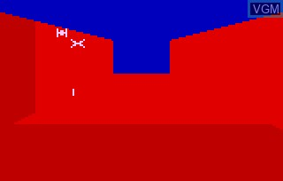 In-game screen of the game Star Battle on Bally Astrocade