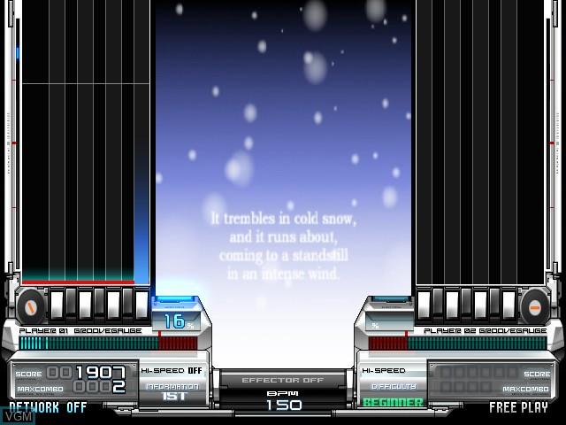 In-game screen of the game Beatmania IIDX 17 Sirius on Konami Bemani PC Type