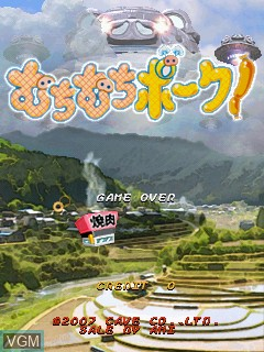 Title screen of the game Muchi Muchi Pork! on Cave Cave 3rd