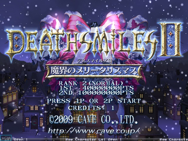 Title screen of the game Deathsmiles II - Makai no Merry Christmas on Cave Cave 3rd