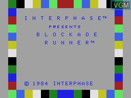 Title screen of the game Blockade Runner on Coleco Industries Colecovision