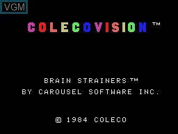 Title screen of the game Brain Strainers on Coleco Industries Colecovision