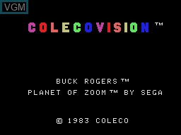 Title screen of the game Buck Rogers - Planet of Zoom on Coleco Industries Colecovision