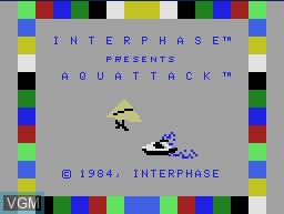 Title screen of the game Aquattack on Coleco Industries Colecovision