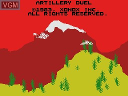 Title screen of the game Artillery Duel on Coleco Industries Colecovision