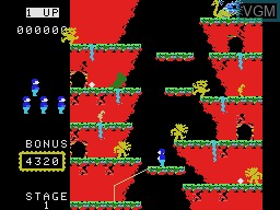 In-game screen of the game Roc 'N Rope on Coleco Industries Colecovision