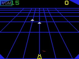 In-game screen of the game Beamrider on Coleco Industries Colecovision