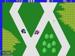 In-game screen of the game Up 'N Down on Coleco Industries Colecovision