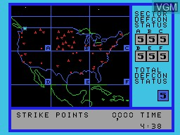 In-game screen of the game War Games on Coleco Industries Colecovision