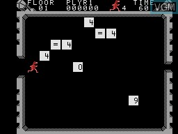 In-game screen of the game Wizard of Id's Wizmath on Coleco Industries Colecovision