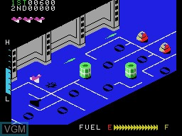 In-game screen of the game Zaxxon on Coleco Industries Colecovision