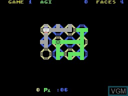 In-game screen of the game Zenji on Coleco Industries Colecovision