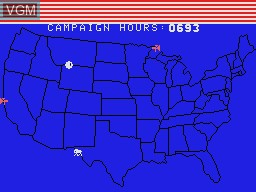 In-game screen of the game Campaign '84 on Coleco Industries Colecovision