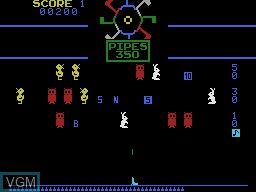 In-game screen of the game Carnival on Coleco Industries Colecovision