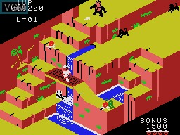 In-game screen of the game Congo Bongo on Coleco Industries Colecovision
