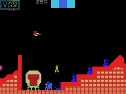 In-game screen of the game Cosmic Avenger on Coleco Industries Colecovision
