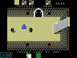 In-game screen of the game Alcazar - The Forgotten Fortress on Coleco Industries Colecovision
