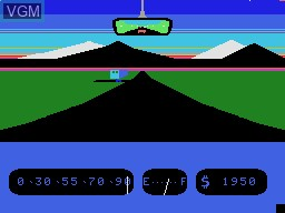 In-game screen of the game Fall Guy on Coleco Industries Colecovision