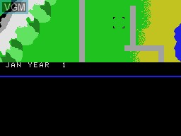 In-game screen of the game Fortune Builder on Coleco Industries Colecovision