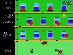 In-game screen of the game Frantic Freddy on Coleco Industries Colecovision
