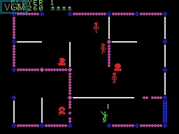 In-game screen of the game Frenzy! on Coleco Industries Colecovision