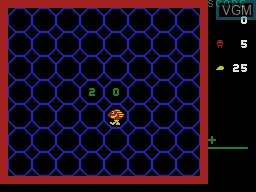 In-game screen of the game Amazing Bumpman on Coleco Industries Colecovision