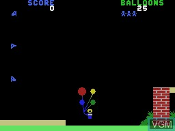 In-game screen of the game Gust Buster on Coleco Industries Colecovision