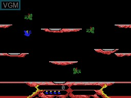 In-game screen of the game Joust on Coleco Industries Colecovision
