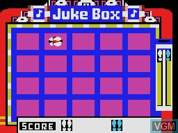 In-game screen of the game Juke Box on Coleco Industries Colecovision