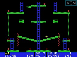 In-game screen of the game Jumpman Junior on Coleco Industries Colecovision