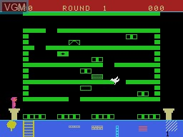 In-game screen of the game Linking Logic on Coleco Industries Colecovision