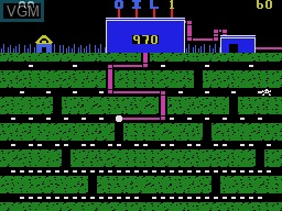 In-game screen of the game Oil's Well on Coleco Industries Colecovision